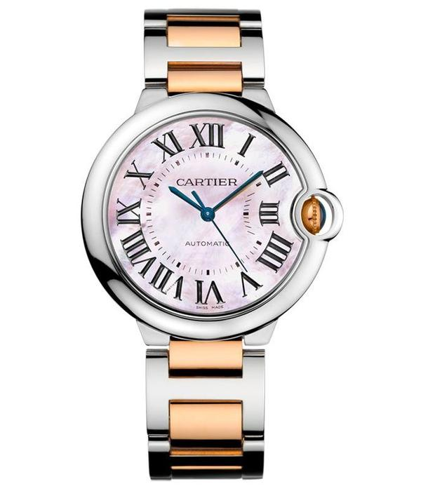 Cartier Ballon Bleu 36mm Horloge Staal / Roségoud