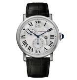 Cartier Rotonde 42mm Horloge Staal / Zilver / Crocoleder