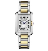 Cartier Tank Anglaise 30mm Horloge Staal / Geelgoud / Zilver