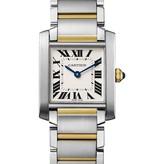 Cartier Tank Francaise 30mm  Horloge Staal / Geelgoud / Zilver