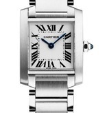Cartier Tank Francaise SM 25mm Horloge Staal / Zilver