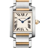 Cartier Tank Francaise SM 25mm Horloge Staal / Geelgoud / Zilver
