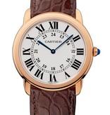 Cartier Ronde Solo 36mm Horloge Staal / Roségoud / Alligatorleder