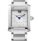 Cartier Tank Francaise 30mm Horloge Staal / Zilver