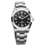 Rolex Oyster Perpetual Explorer 39mm Horloge Staal / Zwart