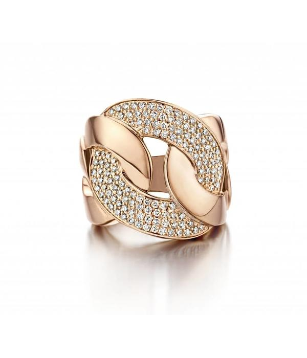 Schaap en Citroen Highlights Ring Diamond Rose Gold