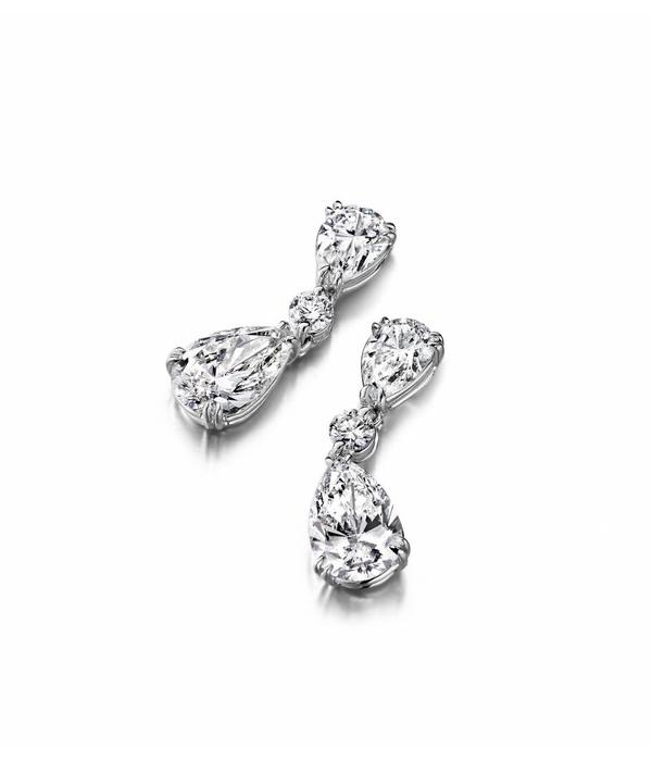 SC Highlights EarRing Drops Diamond with White Gold