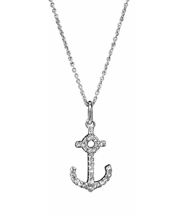 SC Highlights Necklace White Gold with Diamond Anchor