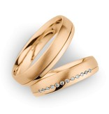 Christian Bauer Wedding Rings 14 Carat Rose Gold 12 Brilliants