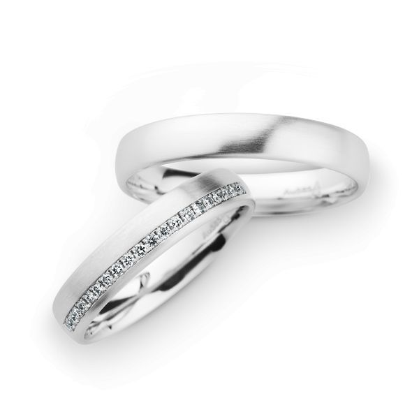 Wedding Rings 14 Carat White Gold 20 Brilliants