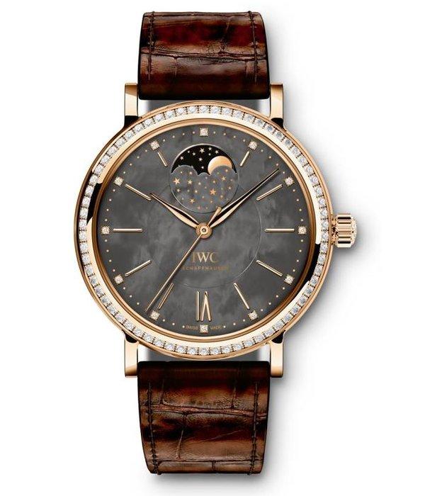 IWC Portofino midsize Automatic Horloge Staal Grijs / Alligatorleder