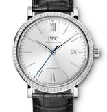IWC Portofino Automatic Horloge Staal Blauw / Alligatorleder