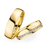 Christian Bauer Wedding Rings 18 Carat Yellow Gold 35 Brilliants