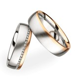 Christian Bauer Wedding Rings 18 Carat Rose Gold 50 Brilliants