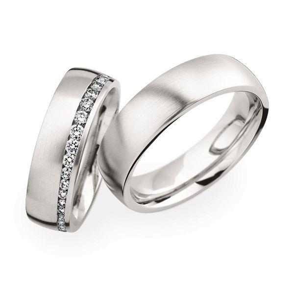 Wedding Rings 950 Platina 40 Brilliants