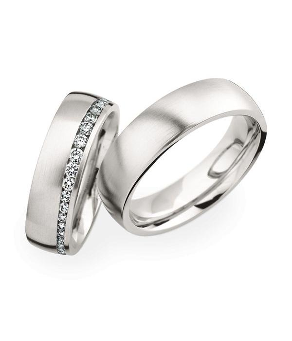Christian Bauer Wedding Rings 950 Platina 40 Brilliants