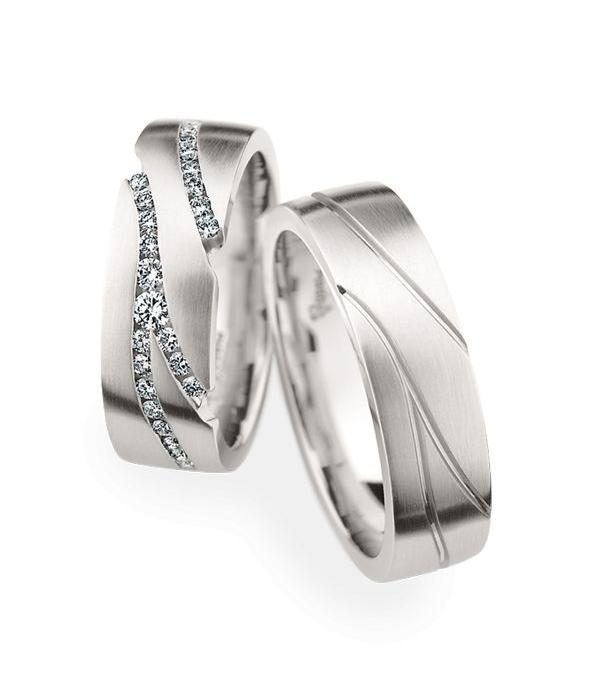 Christian Bauer Wedding Rings 950 Platina 57 Brilliants