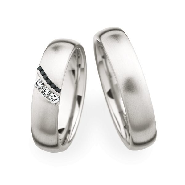 Wedding Rings 950 Platina 9 Brilliants
