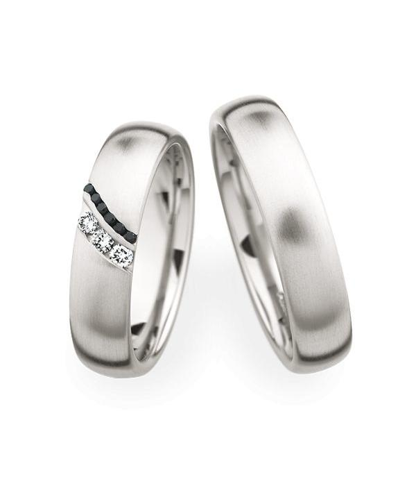 Christian Bauer Wedding Rings 950 Platina 9 Brilliants