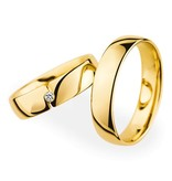 Christian Bauer Wedding Rings 18 Carat Yellow Gold 1 Brilliant
