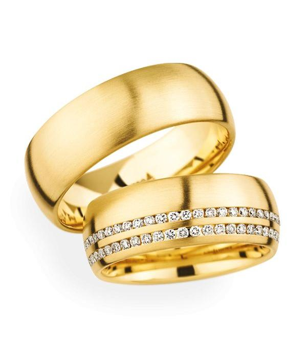 Christian Bauer Wedding Rings 18 Carat Yellow Gold 59 Brilliants