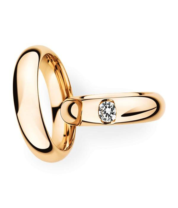 Christian Bauer Wedding Rings 14 Carat Rose Gold 1 Brilliant