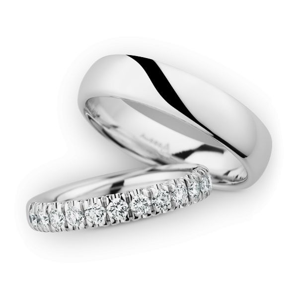 Wedding Rings 14 Carat White Gold 13 Brilliants