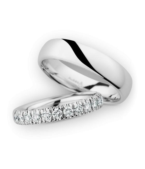 Christian Bauer Wedding Rings 14 Carat White Gold 13 Brilliants