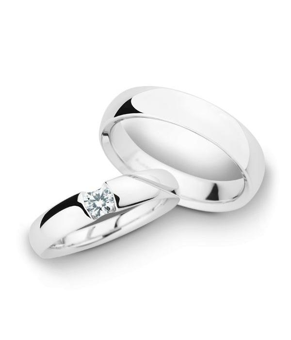 Christian Bauer Wedding Rings 14 Carat White Gold 1 Brilliant