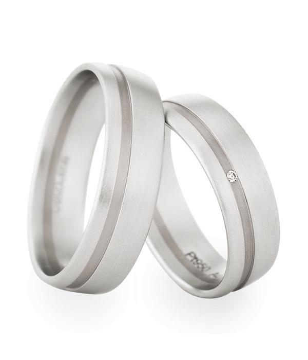 Christian Bauer Wedding Rings 950 Platina / 18 Krt. White Gold 1 Brilliant