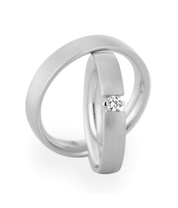 Christian Bauer Wedding Rings 14 Carat White Gold 1 Brilliant