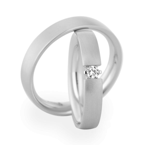 Christian bauer wedding rings 14 carat white gold 1 for Christian bauer wedding rings