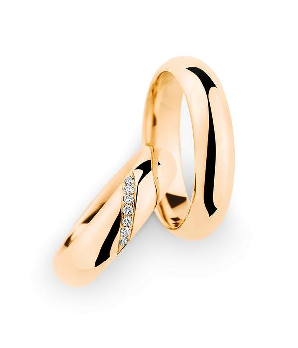 Christian Bauer Wedding Rings 18 Carat Rose Gold 7 Brilliants
