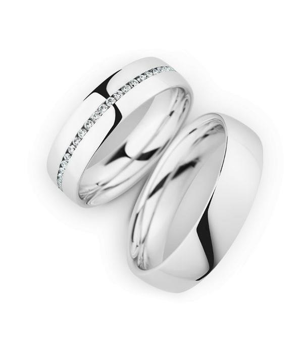 Christian Bauer Wedding Rings 14 Carat White Gold 50 Brilliants