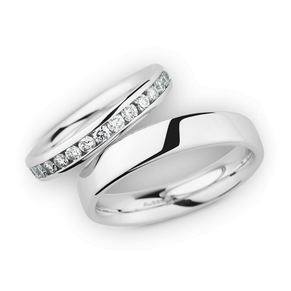 Wedding Rings 14 Carat White Gold 15 Brilliants