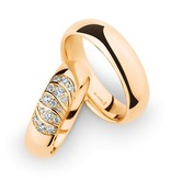 Christian Bauer Wedding Rings 14 Carat Rose Gold 15 Brilliants
