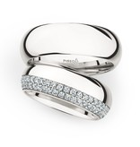Christian Bauer Wedding Rings 950 Platina 84 Brilliants