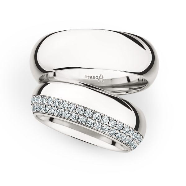 Wedding Rings 950 Platina 84 Brilliants