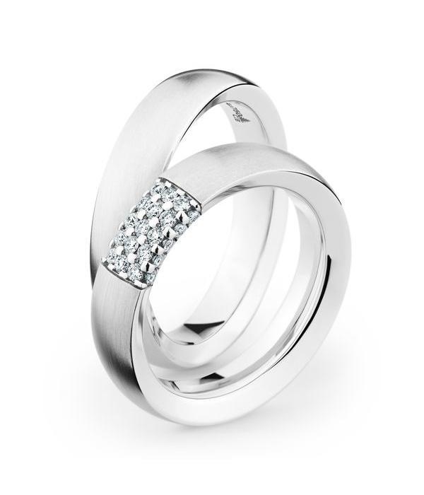 Christian Bauer Wedding Rings 18 Carat White Gold 25 Brilliants