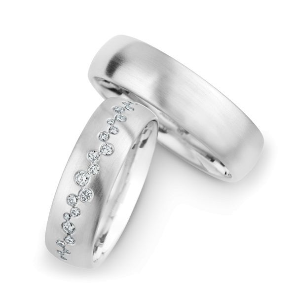 Wedding Rings 14 Carat White Gold 25 Brilliants