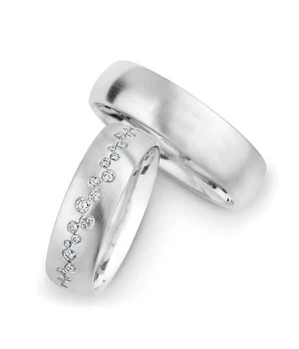 Christian Bauer Wedding Rings 14 Carat White Gold 25 Brilliants