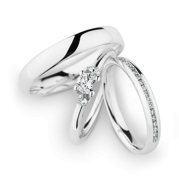 Wedding Rings 14 Carat White Gold 18 Brilliants