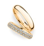 Christian Bauer Wedding Rings 18 Carat Rose Gold 32 Brilliants