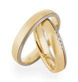 Christian Bauer Wedding Rings 14 Carat Yellow Gold / White Gold 5 Brilliants