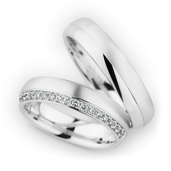 Wedding Rings 18 Carat White Gold 20 Brilliants