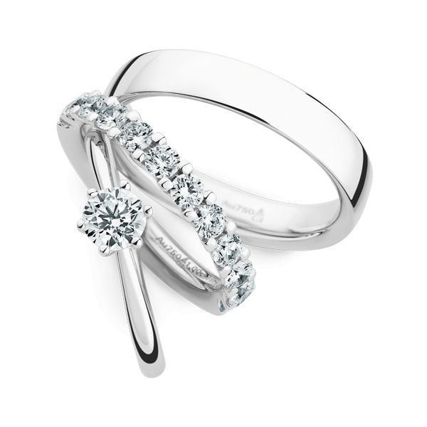 Wedding Rings 18 Carat White Gold 12 Brilliants