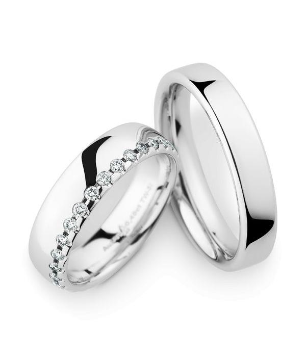 Christian Bauer Wedding Rings 14 Carat White Gold 30 Brilliants