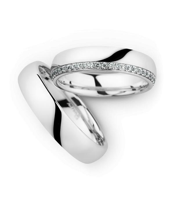 Christian Bauer Wedding Rings 18 Carat White Gold 48 Brilliants
