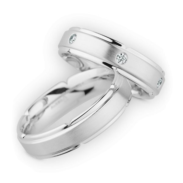 Wedding Rings 585 White Gold 6 Briliants