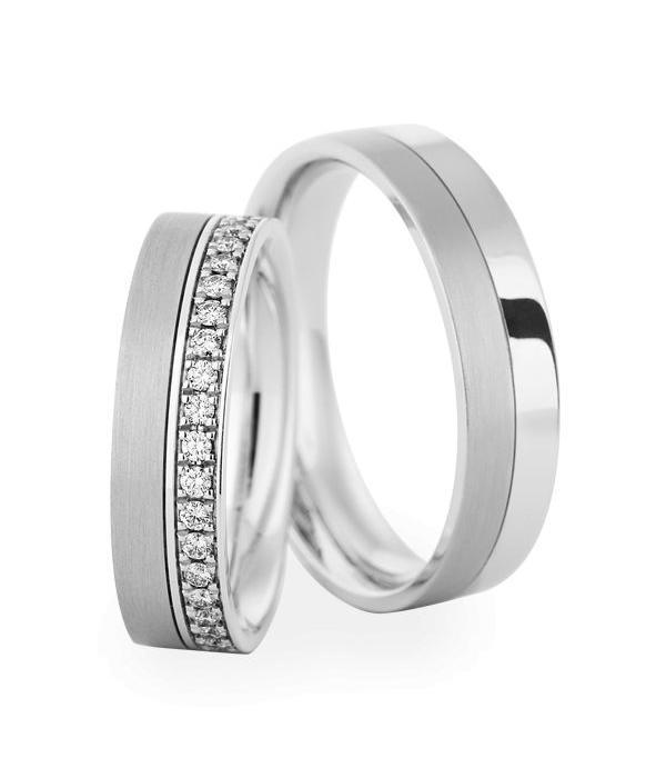 Christian Bauer Wedding Rings 18 Carat White Gold 38 Brillanten